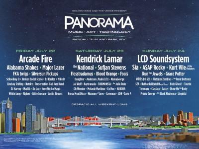 フジロック同日程のコーチェラNY版「Panorama」のラインナップが明らかに!