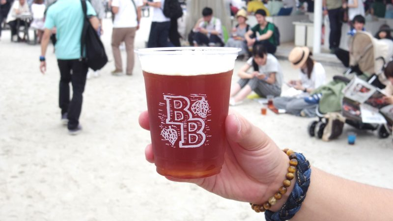 Baird Brewingの帝国IPA。しっかりとしたコクと爽やかなホップの香りがマッチした フェスの始まりにぴったりのビールです!