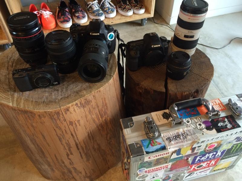 ▲フェスに持ち込むカメラ機材など