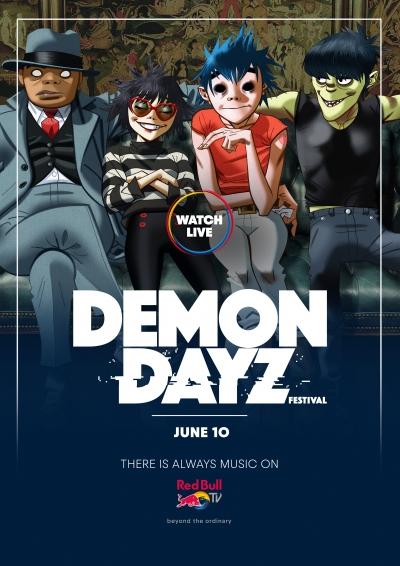 【6月11日AM3時スタート】ゴリラズ主催「DEMON DAYZ FESTIVAL」がRed Bull TVでライブ配信