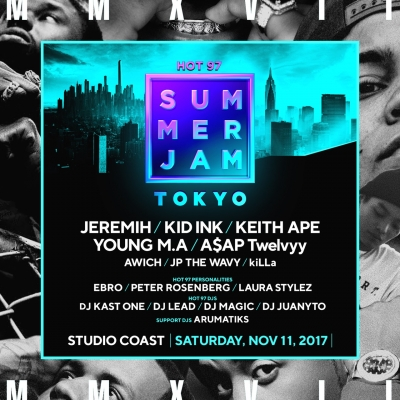 「HOT 97 SUMMER JAM」にA$AP Twelvvy、keith Apeの2組が追加