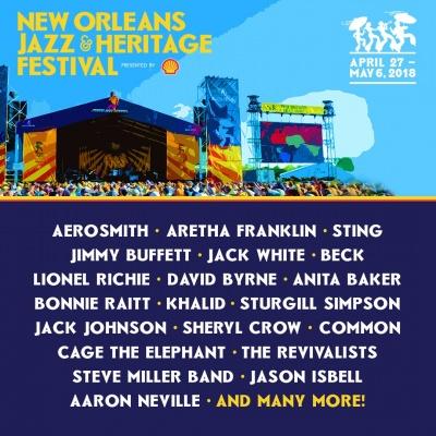 【海外フェス】アメリカ「ニューオーリンズジャズフェスティバル」エアロスミス、ジャック・ホワイト、ベックらラインナップ発表
