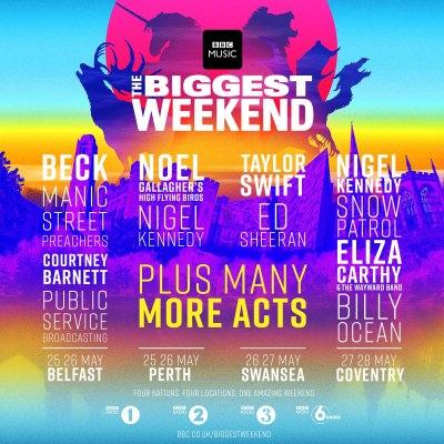 【海外フェス】グラストンベリーの代わりとなる「BBC Music's Biggest Weekend」ラインナップ発表