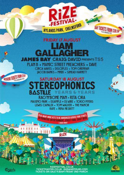 【海外フェス】サマソニと日程被りの新フェス・イギリス「RiZe Festival」にリアム、ステフォ、Years&Yearsら出演決定