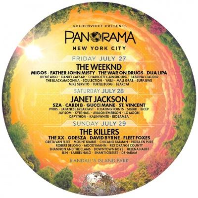 【海外フェス】フジロック同日程のアメリカ「パノラマ」にキラーズ、ジャネット・ジャクソン、The Weekndら出演決定