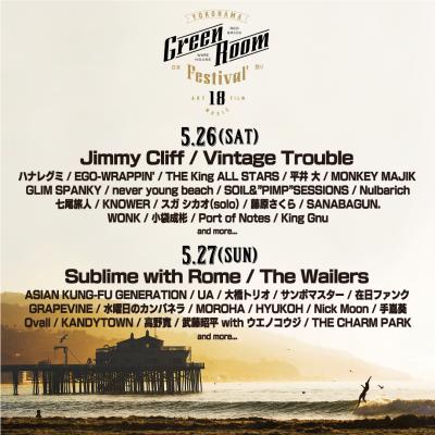「GREENROOM FESTIVAL'18」日割りラインナップ発表