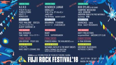 【FUJI ROCK FESTIVAL'18】フジロック第8弾&ステージ別ラインナップ発表