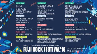 【FUJI ROCK FESTIVAL'18】YouTubeでのライブ配信アーティスト発表