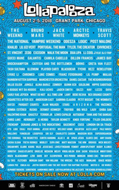 シカゴ都市型フェス「ロラパルーザ 2018」が現在ライブ配信中。The Weeknd、Jack Whiteらの配信も