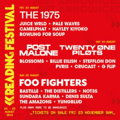 【海外フェス】イギリス「Reading & Leeds Festival」第1弾ラインナップ発表で、Foo Fighters、The 1975、Post Maloneら出演決定