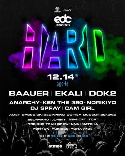 「EDC JAPAN 2019」開催に先駆け、キックオフパーティ「HARD presented by EDC Japan」開催決定