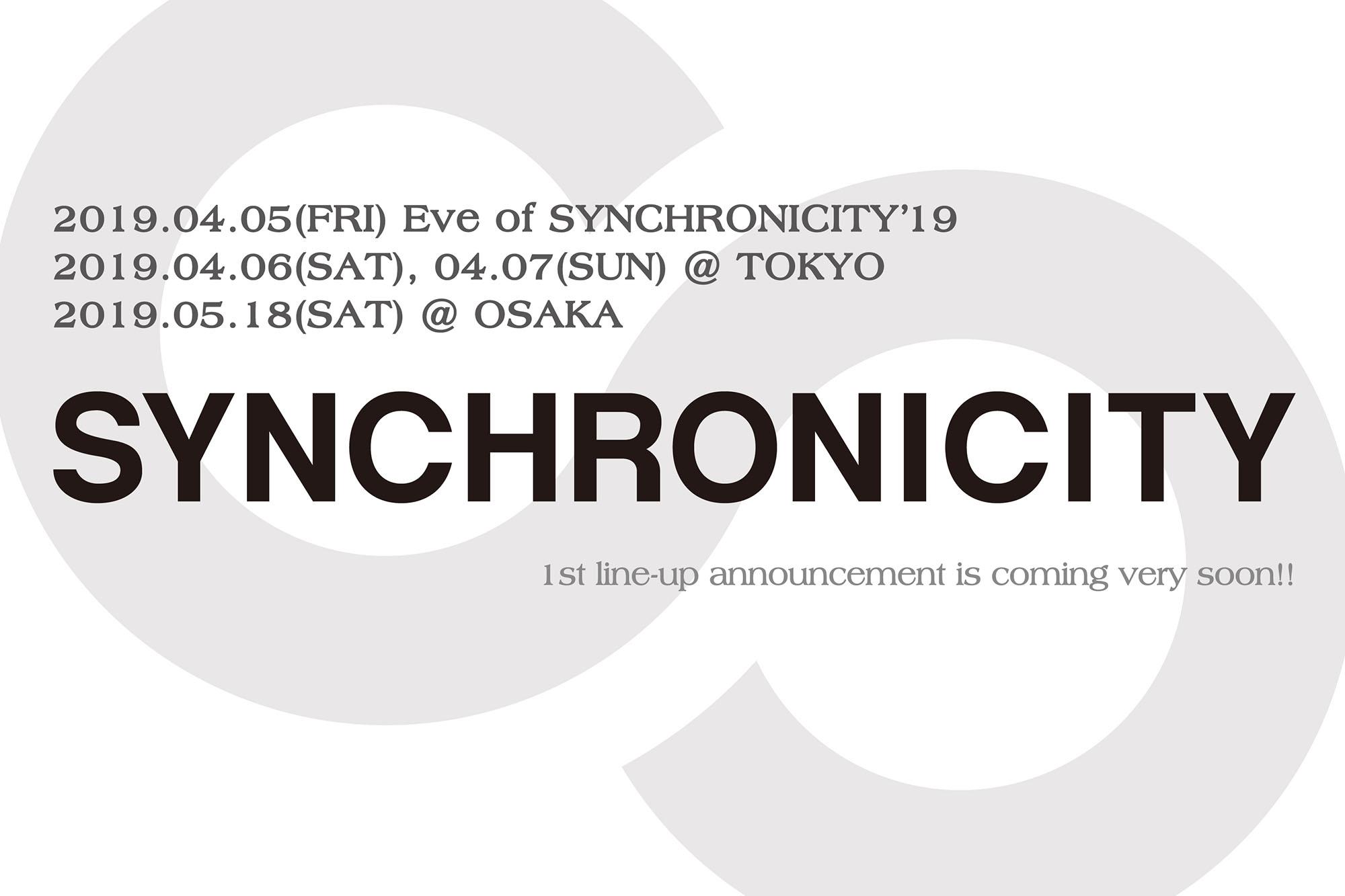 都市型フェスティバル「SYNCHRONICITY'19」東京&大阪で開催決定