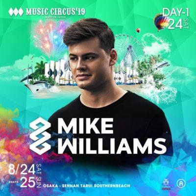 関⻄最⼤級ビーチフェス「MUSIC CIRCUS'19」にMike Williams、PKCZ®、SKY-HIら10組追加